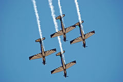 Sliver Falcon Aerobatics Team Royalty Free Stock Photos