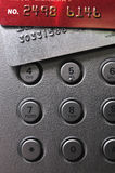 Sliver gray and red bank cards and push button Stock Photography