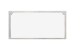 Sliver name plate isolated on white background. Antique sliver name plate isolated on white background stock photography