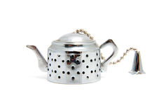 Sliver teapot Royalty Free Stock Photography