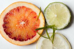 Slivers citrus fruit Stock Photo