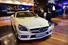SLK cabriolet on display at the Mercedes Benz gallery along Champ Elysees in Paris Stock Photography