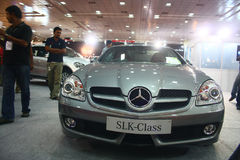 SLK Class Mercedes Benz at Auto World Expo 2011. The SLK class Mercedes Benz sports car at Auto World Expo 2011, Chennai Trade Centre (India Stock Photos