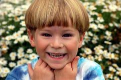 Sllly chłopiec fotografia stock