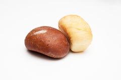 Släntrar av bröd—brunt och vit Royaltyfri Bild