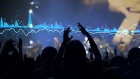Slo-mo av att applådera på en konsert lager videofilmer