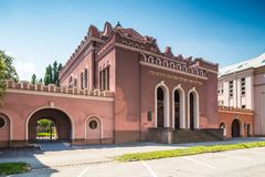 Sloavakia Kosice Judisk synagoga som byggs i 1926-27 Royaltyfria Foton