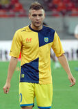 Slobodan Vuk of NK Domzale. Domzale's Slobodan Vuk pictured during the warm up before the UEFA Europa League qualifying round game between Astra Giurgiu and NK Royalty Free Stock Photography