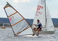 Slobozhanshina Sailing Cup Royalty Free Stock Photos