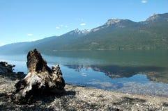 slocan的湖 库存照片