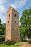 Slochteren教会的高耸  免版税库存图片