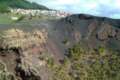 slocknad volcan lapalma Royaltyfri Foto
