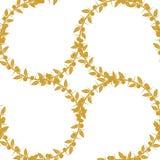 Sloe και πουλιά, ένα σύνολο τριών χρυσών άνευ ραφής σχεδίων και σύνορα απόθεμα απεικόνισης κατασκευής κάτω από το διάνυσμα Στοκ εικόνα με δικαίωμα ελεύθερης χρήσης