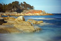 Sloepbaai - Baai van Branden Tasmanige Royalty-vrije Stock Foto