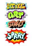 Slogan da arte dos grafittis Vetor detalhado ilustração do vetor