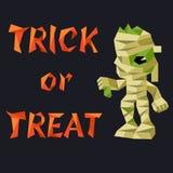 Slogan de Halloween avec la maman dans le bas-poly style image stock
