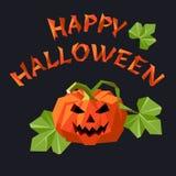 Slogan de Halloween avec le potiron de lanterne du cric o photos stock