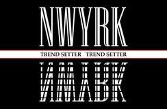 Slogan de New York City para a impressão da camisa de t, o T gráfico e o T impresso ilustração do vetor
