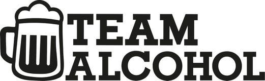Slogan de Team Alcohol Images libres de droits