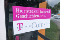 Slogan de Telekom imagem de stock royalty free