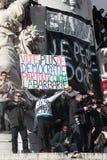 Slogan defending democracy in Paris. Stock Images