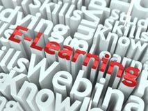 Slogan di e-learning. Progettazione concettuale. Fotografia Stock