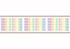Slogan di Femme Power, grafici moderni con il testo variopinto di ripetizione e linee orizzontali Progettazione di vettore di mod royalty illustrazione gratis