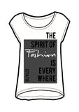 Slogan,fashion print. On t-shirt shape,in vector Stock Photos