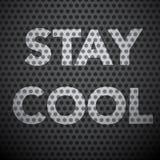 Slogan fresco da estada no fundo de aço escuro Fotografia de Stock Royalty Free