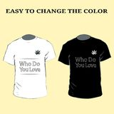 Slogan graphic t shirt designs with heart. T-Shirt Design who do you love eps10. Slogan graphic t shirt designs with heart. T-Shirt Design who do you love eps 10 vector illustration