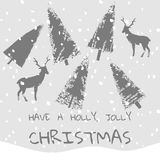 Slogan have a holly jolly christmas xmas background Royalty Free Stock Photography