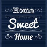 Slogan Home Sweet Home Stock Photography