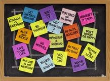 Slogan inspiradores e frases Imagens de Stock Royalty Free
