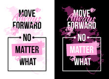 Slogan motivation with flowers. text print. Vector illustration Royalty Free Stock Photography
