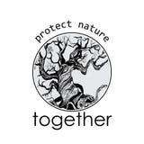 Slogan of nature conservancy Stock Image