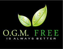 Slogan: OGM FREE is always better Stock Images