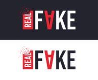 Slogan reale e falso per progettazione di stampa della maglietta Progettazione grafica del T Vettore illustrazione di stock