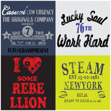Slogan Set Man T shirt Graphic Design Stock Photography