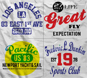 Slogan Set Man T shirt Graphic Design Stock Images