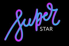 slogan Superstar phrase graphic vector Print Fashion lettering vector illustration