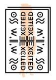 Slogan texttryck Arkivfoto