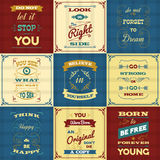 Slogan Typography Posters Royalty Free Stock Image