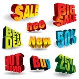 Slogans de vente Images stock