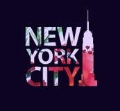 Slogans tropicaux d'impression Pour le T-shirt ou d'autres usages, vecteur New York City Photos stock