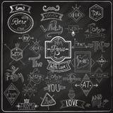 Sloganu blackboard kredy projekt Obrazy Royalty Free
