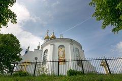 SLONIM, BIELORRUSIA - 20 de mayo de 2017: Iglesia ortodoxa en la ciudad de Slonim imagen de archivo libre de regalías