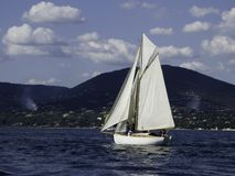 Sloop. Classic sloop marconi in a light breeze Royalty Free Stock Photography