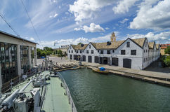 The Sloop and Longboat Shed Karlskrona Royalty Free Stock Photo