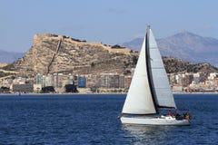 Sloop sailing Royalty Free Stock Photography