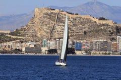 Sloop sailing Stock Images